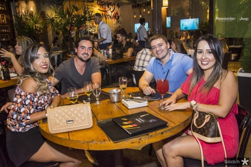 Thais Ribeiro, Sergio Kirobe, Bruno Vieira e Renata Santos