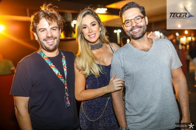 Claudio Nelson, Priscilla Silva e Savio Brito