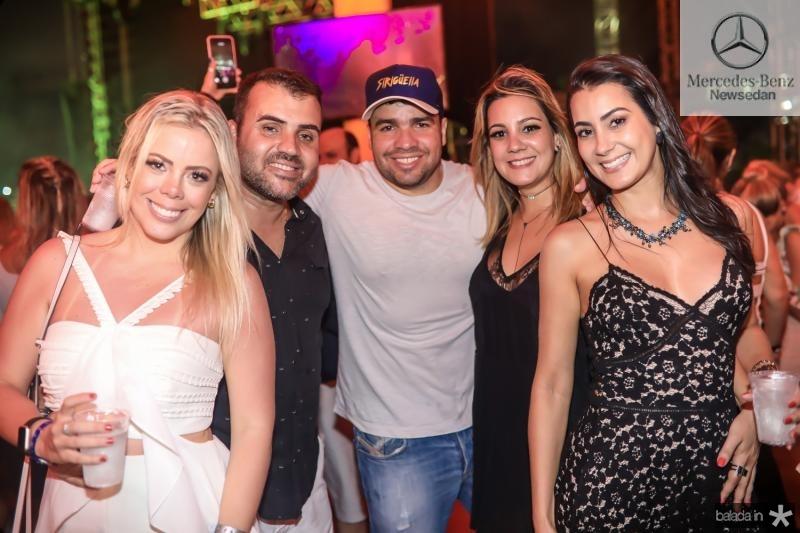 Daniela Farias, Alisson Freitas, Tiago Colares, Roberta Andrade e Renata Andrade