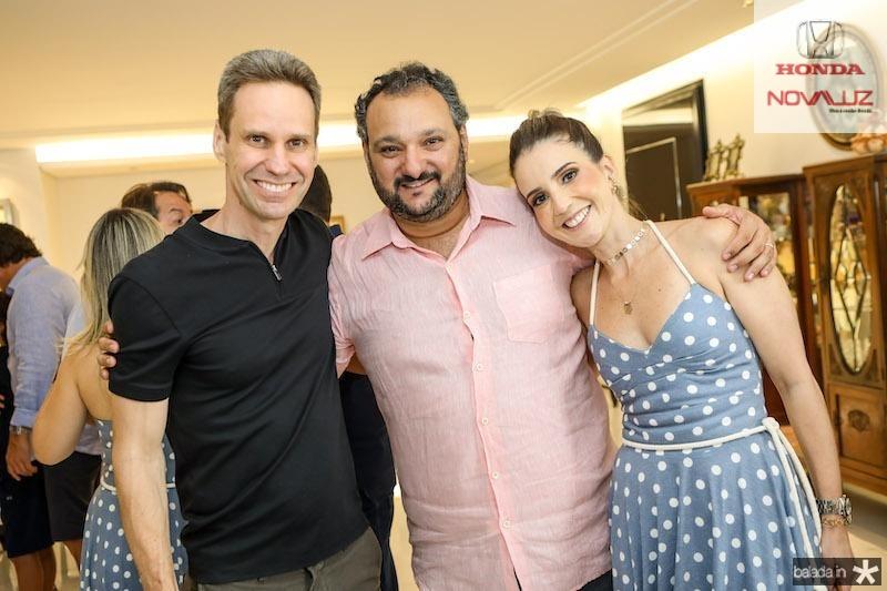 Patriolino Dias com Jorge Dantas e Beatriz Dantas