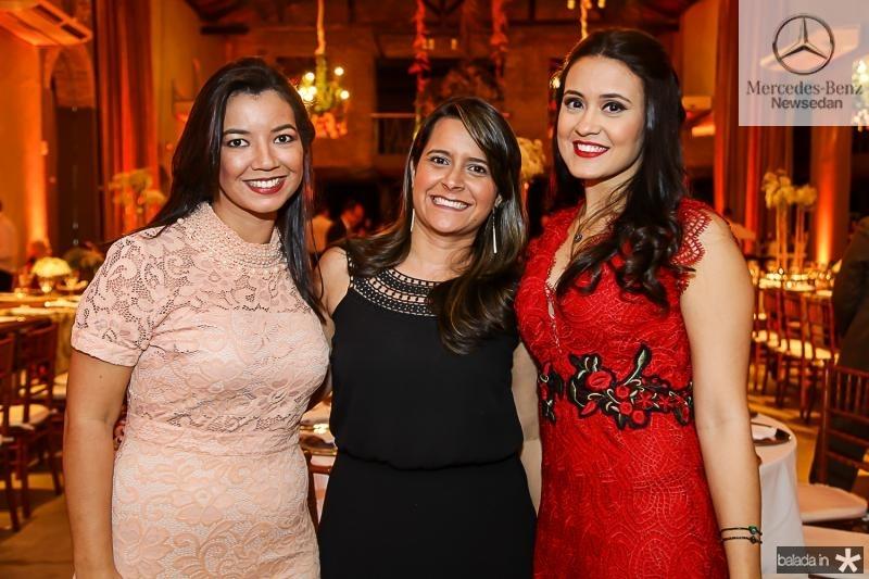 Cleiciane Rodrigues, Raquel Emile e Marilia Andrade