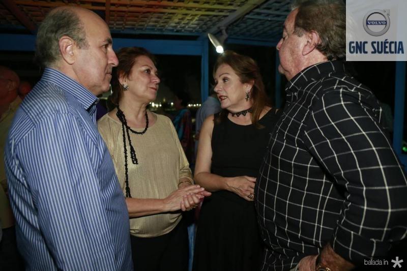 Silvio e Paula Frota, Cristina e Chiquinho Aragao 2