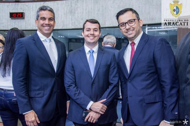 Cristiano Alencar, Rodrigo Peixoto e Evrandro Campos