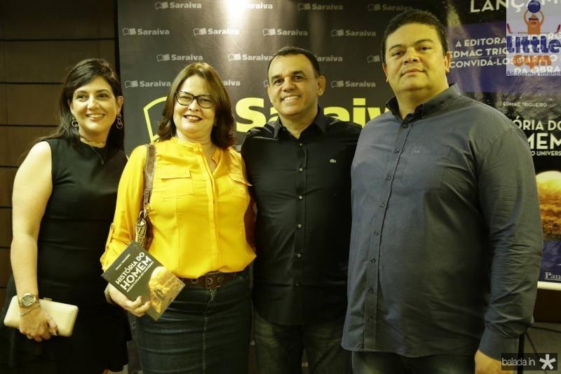 Lana Trigueiro, Cristiane Arcoverde, Edmac Trigueiro e Luiz Arcoverde