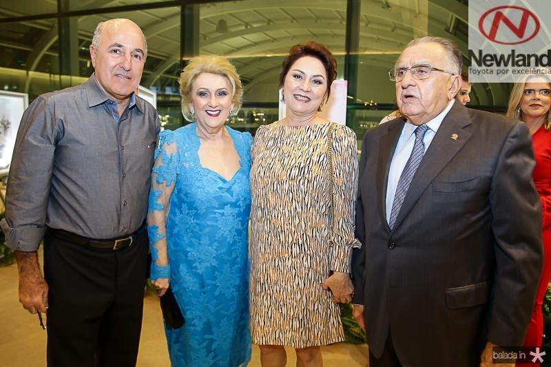 Silvio Frota, Socorro França, Paula Frota e Joao Carlos Paes Mendonça