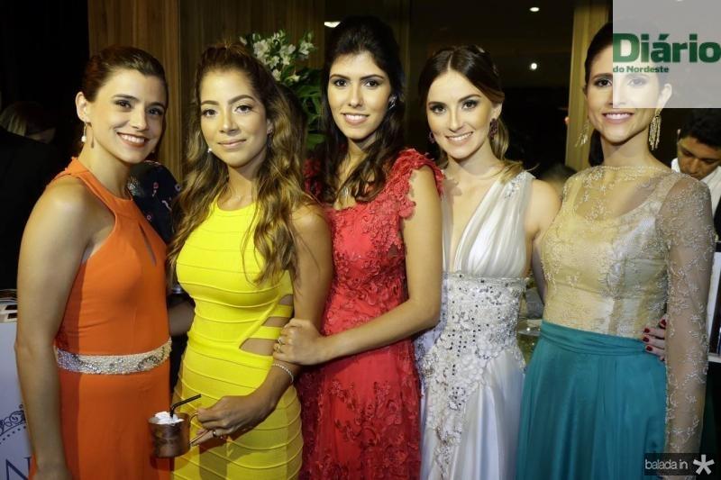 Paula Campos, Maria Eugenia Pinto, Flavia Simoes, Laime Paz e Manoela Bezerra