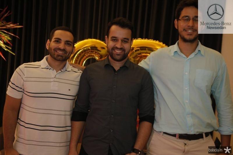 Alexandre Ribeiro, Gabriel Chaves e Rafael Dias