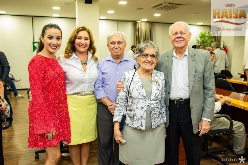 Lara Feitosa, Fatima Feitosa, Francisco Pessoa, Dolores Feitosa e Flavio Saboia