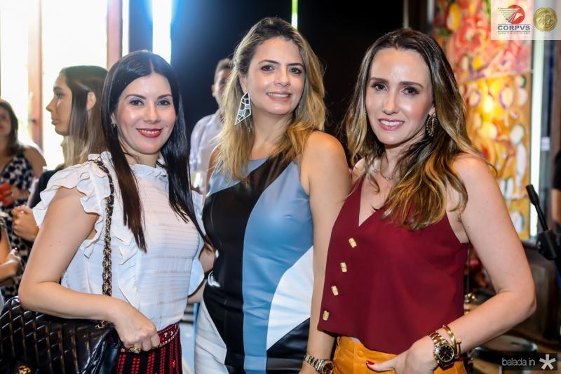 Lia Linhares, Tais Pinto e Roberta Nogueira