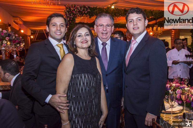 Ricardo Cavalcante, Rosangela Cavalcante, Ricardo Cavalcante e Vitor Cavalcante