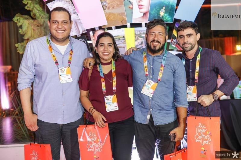 Claudio Guilherme, Clara Temporal, Hallyson Joab e Fernando Formosa