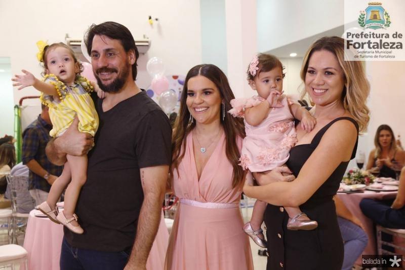 Alice, Rodrigo, Ana Paula e Lais Domene e Mirela Alencar