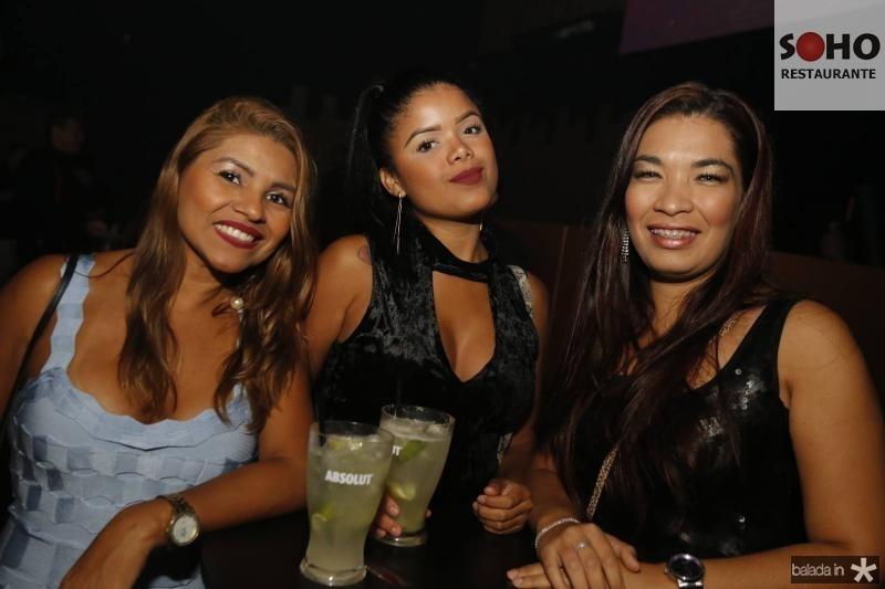 Paula Gil, Eveline Ramos e Monalisa Lima