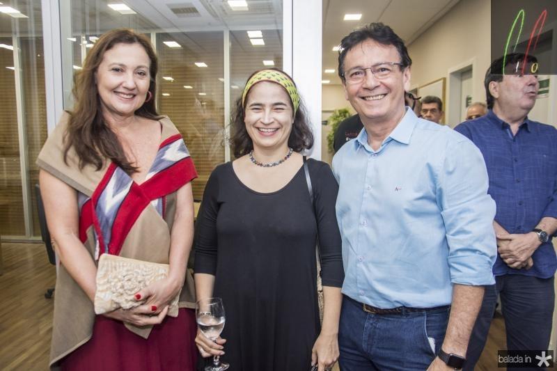 Claudia Leitao, Raquel Gondim e Francilio Dourado