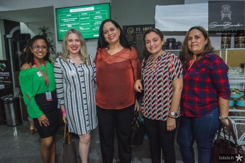 Mayara Silva, Maralyza Pinheiro, Milene Pereira, Ruth Lima e Eliete Aragao