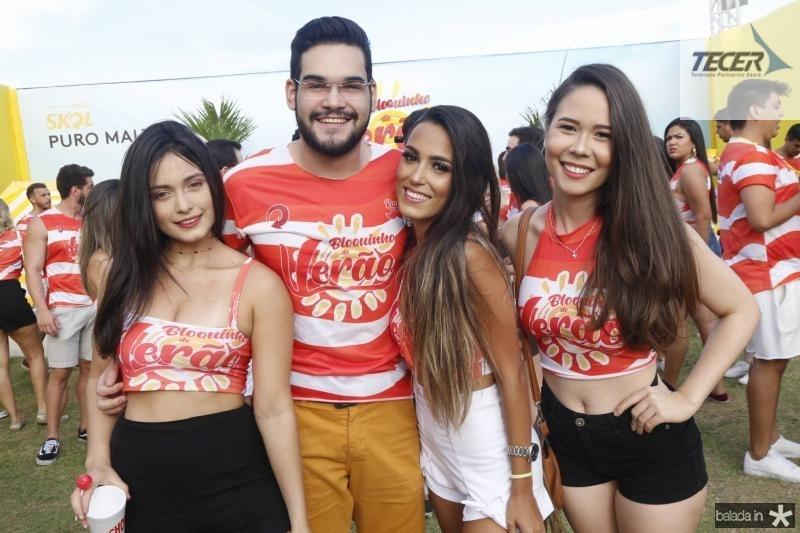 Andressa Niza, Felipe Leal, Beatriz Alencar e Janaina Alves