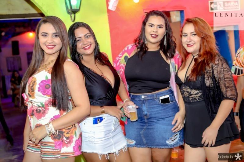 Ortencia Rocha, Darliane Andrade, Gabriele Correia e Rochelia Xavier
