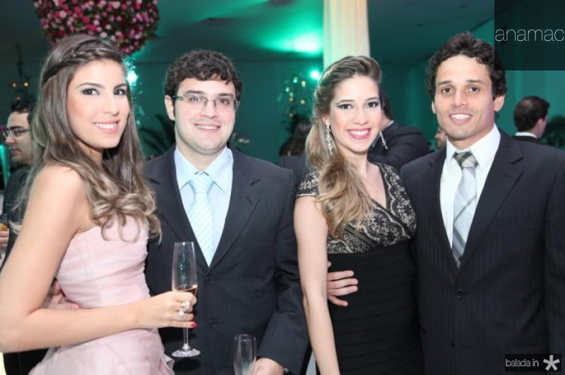 Patricia Santiago, Alcimor Neto, Liana e Rafael Sa