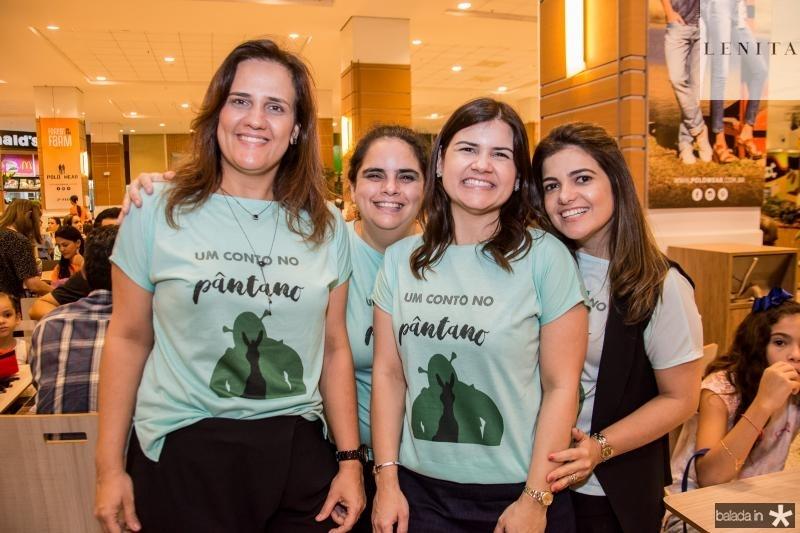 Ana Cecilia Castro, Tatiana Mota, Ticiana Brigido e Viviane Linhares