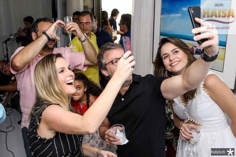 Mariana e Francisco Marinho, Camila Benevides e Patriolino Dias