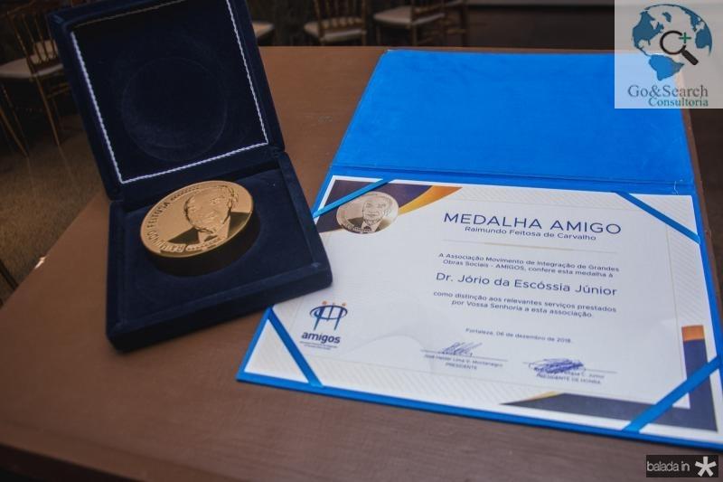Medalha Raimundo Feitosa de Carvalho Para Jorio da Escossia