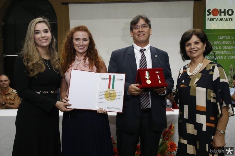 Juliana Albuquerque, Silvia Andrea, Antonio Tiburtino e Candida Torres de Melo