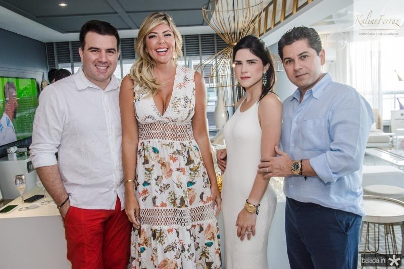 Danilo Dias, Patricia Dias, Marilia Vasconcelos e Pompeu Vasconcelos