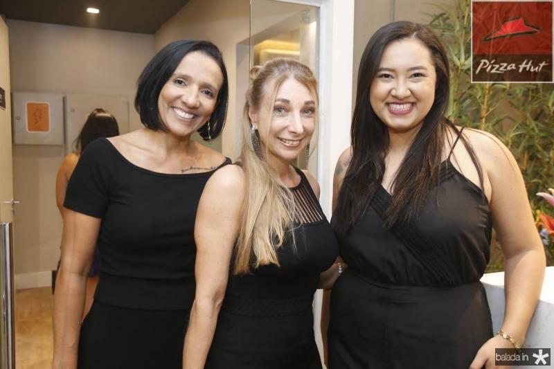 Reilane Vieira, Eliana Licursi e Priscila Arruda