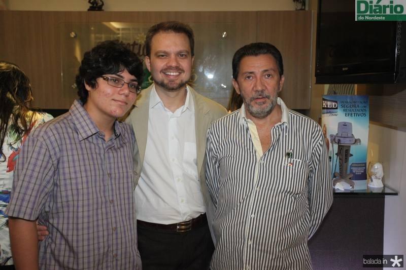 Felipe Saraiva, Valderi Vieira e Socrates Saraiva
