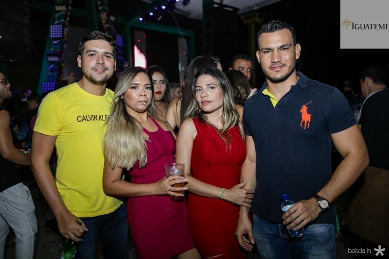 Heleno Junior, Vanessa Soares, Raquel Lopes e Rian Guedes