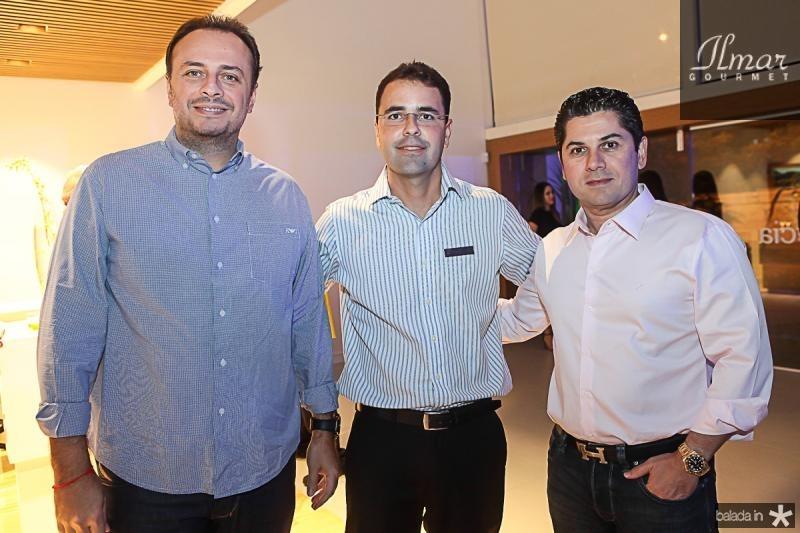 Adriano Nogueira, Silvio Coelho e Pompeu Vasconcelos