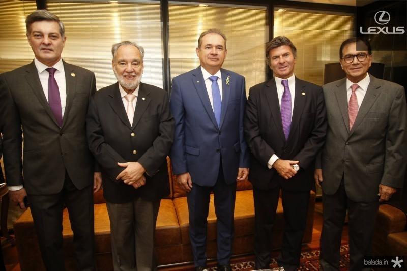 Cid Marconi, Sylvio Campanema, Washington Araujo, Luiz Fux e Beto Studart