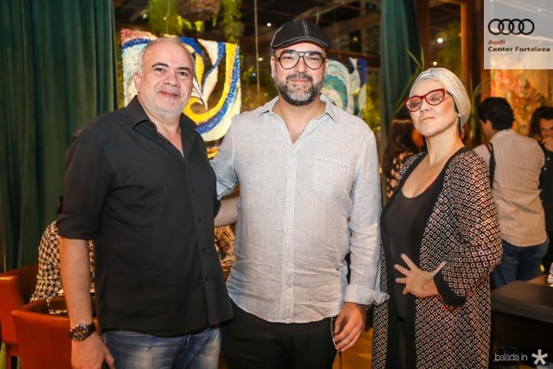 Dias Brasil, Newton Whitehurst e Karine Alexandrino