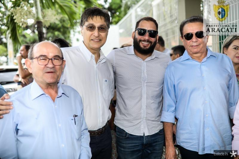 Antonio Balman, Hugo Figueiredo, Junior Gadelha e Gaudencio Lucena