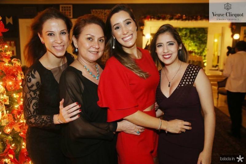 Natercia Saboya, Paula Frota, Manuela Melo e Juliana Teixeira