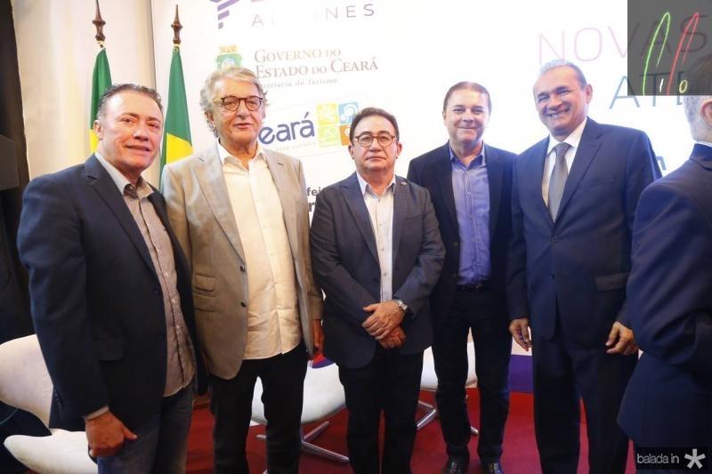 Darlan Leite, Arialdo Pinho, Manuel Linhares,Eliseu Barros e Washington Luiz