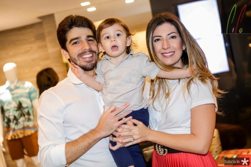 Renan, Joaquim e Renata Aguiar