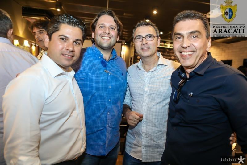 Pompeu Vasconcelos, Daniel Otoch, Carlos Pereira e Idesio Rolim