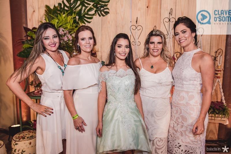 Sulamita Oliveira, Renata Lea, Sofia Leal, Gisele Padua e Sylvia Leal