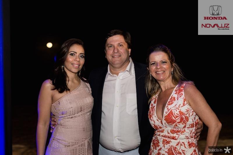 Poliana, Elmo e Cristina Carvalho