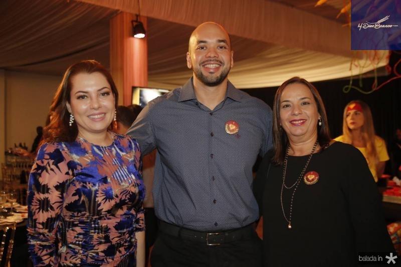 Alana Aguiar, Clairton Pessoa e Melina Barbosa