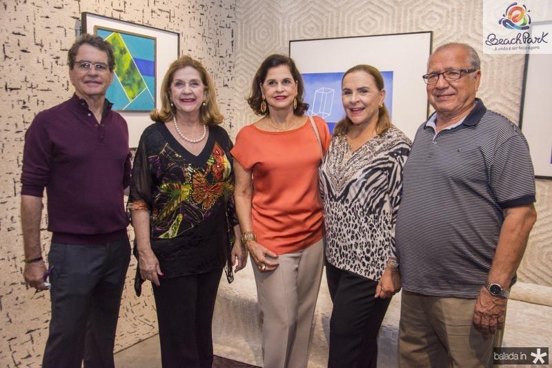 Cesar Fiuza, Tita Pinto, Beta Fiuza, Beatriz Fiuza e Cesar Rosas