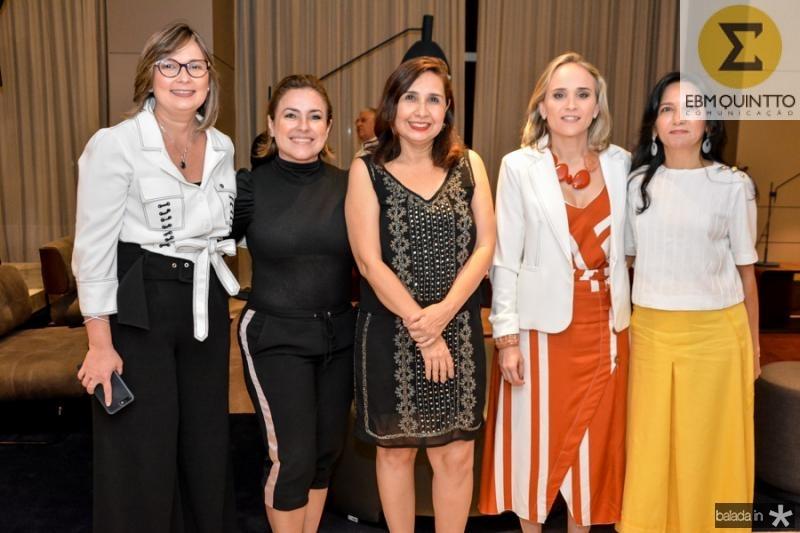 Renata Santiago, Eveline Frota, Neila Fontenele, Fernanda Pacobahyba e Aurineide Lemos