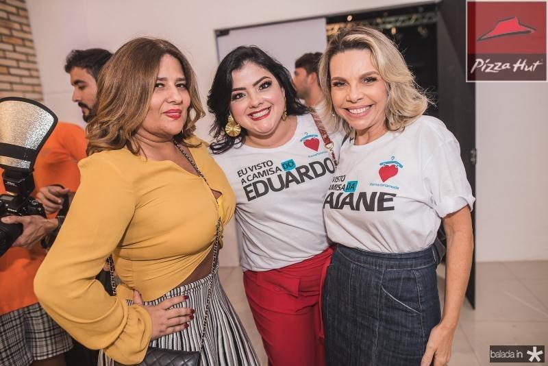 Montiele Arruda, Viviane Almada e Lilian Porto