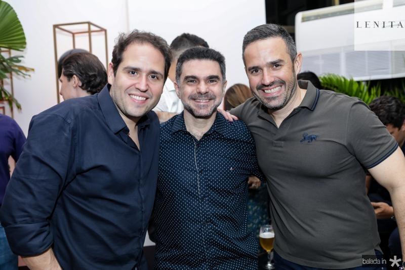 Marcos Feitosa, Isaac Furtado e Mario Feitosa