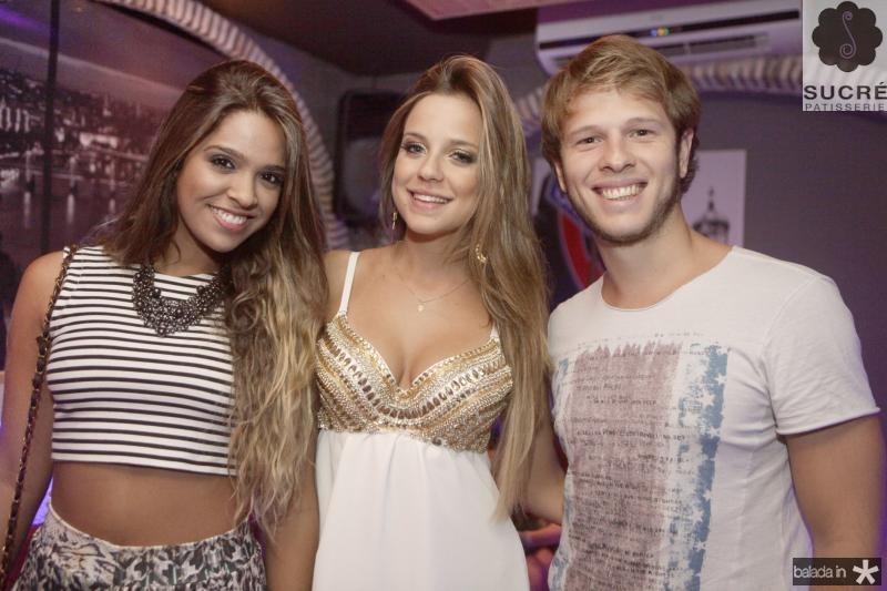 Monick Viana, Fernanda Levy e Thiago Holanda