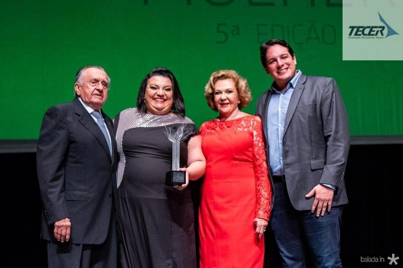 Joao Carlos Paes Mendonca, Valeria Vitoriano, Auxiliadora Paes Mendonca e Marcelo Filho