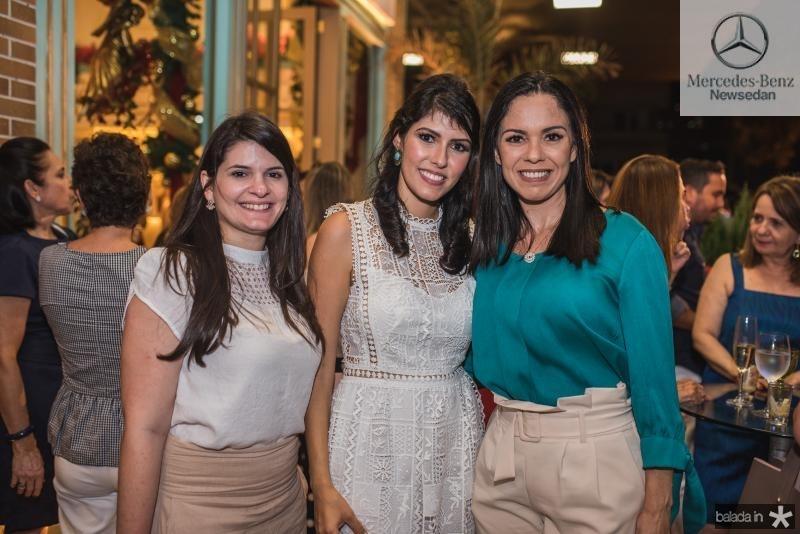 Sara Aragao, Flavia Laprovitera e Cristine Rocha