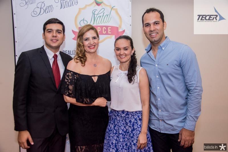 Heleno Junior, Enid Camara, Ana Cristina e Carlos Dourado