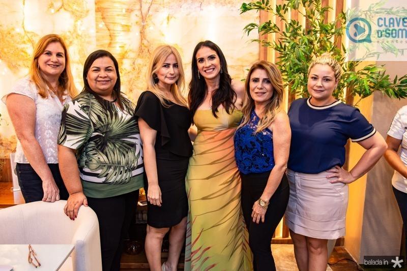 Marinez Charron, Adriana Monteiro, Linda Nunes, Luciana Carioca, Adelia Albuquerque e Eveline Pontes